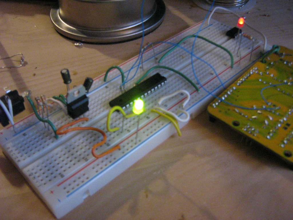 Arduino Processor on a breadboard