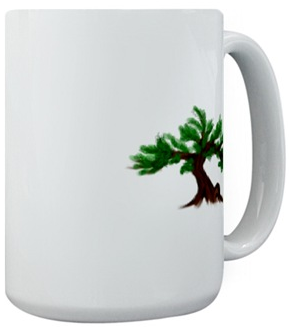 Large Mug with the Dawning Bonsai on it